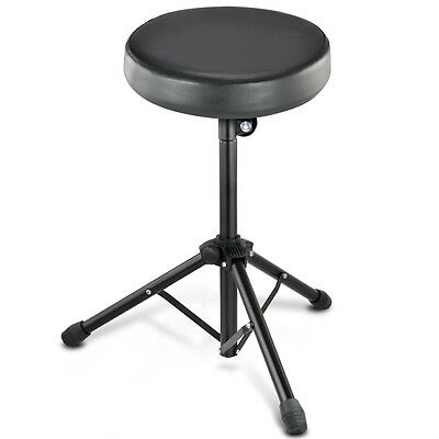 Adjustable Heavy Duty Drum Stool Music Piano Throne Drummer Chair Padded Seat