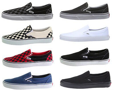 Vans Classic Slip On Off the wall skate shoe Checkered and Solid Colors Vans