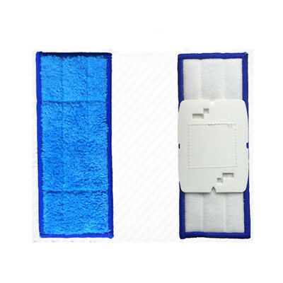 New 4 sets Replacement Washable Dry Wet Mopping for iRobot Braava Jet 240 Blue