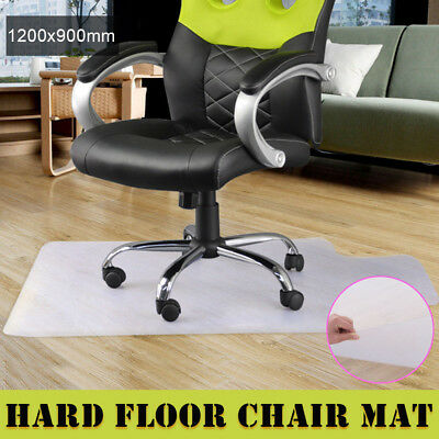 New 1200x900mm Carpet Hard Floor Office Computer Work Chair Mat Vinyl Protector