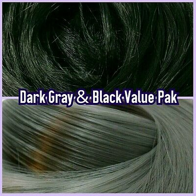 Black & Grey XL 4oz 2 Color Value Doll Hair Re-Rooting MLP Barbie Monster High