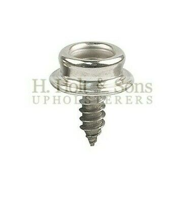 Snap Fasteners - 316 Stainless Steel - 10mm - Press Stud Screw Base - 20 Count