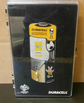 2006 World Cup Germany 6 Badge Set Duracell Battery Shaped Pins