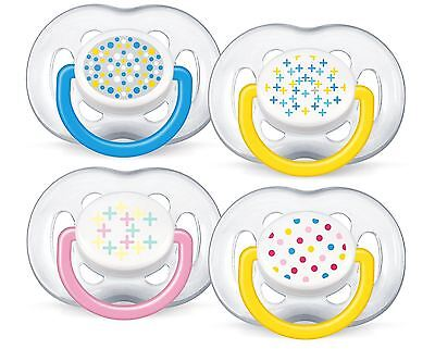 2 x Philips AVENT Contemporary Freeflow Soother BPA-Free Baby Soothers 6-18m NEW