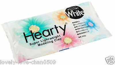 PADICO Hearty Super Lightweight Modeling Clay White Soft & Light Air Dry 7 oz