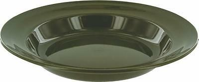 Green  Plastic Deep  Plate 22cm Wide  Microwave and Dishwasher safe camping