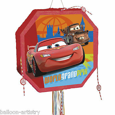 Disney's Cars Lightning McQueen Children's Popout Pull Pinata Party Game
