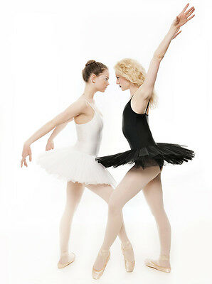 Black Or White Swan Halloween Ballet Fancy Dress Costume Tutu Outfit All Sizes