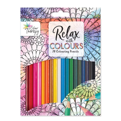Colour Therapy Relax With Colours 20 Full Size Colouring Pencils