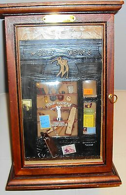 Vintage Arister Gifts Wood & Glass Golf Themed Shadow Box CD Storage Chest