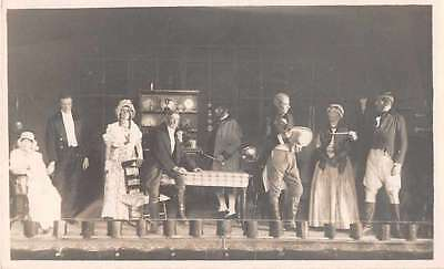 Theatre Stage Actors Play Real Photo Antique Postcard J53598