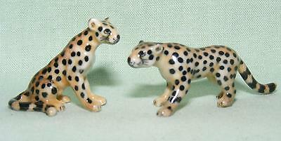Klima Miniature Porcelain Animal Figures Pair of Mini Leopards X063