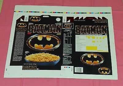 vintage Ralston BATMAN CEREAL BOX ART salesman's sample printer's proof