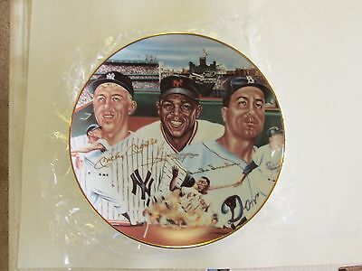 Sports Impressions Plate Gold Edition Mickey Mantle, Willie Mays, Duke Snider