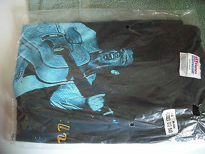 Elvis Presley  Black T-shirt New Adult Large Hanes shirt w/embroidered letters