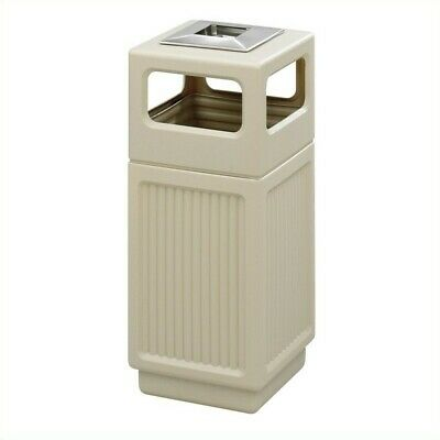 Safco Canmeleon Recessed Panel Ash Urn  in Tan