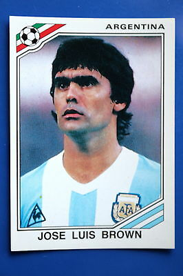 Panini WC MEXICO 86 STICKER N. 78 ARGENTINA BROWN WITH BACK VERY GOOD/MINT