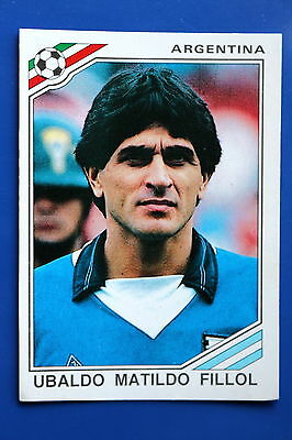 Panini WC MEXICO 86 STICKER N. 74 ARGENTINA FILLOL  WITH BACK VERY GOOD/MINT