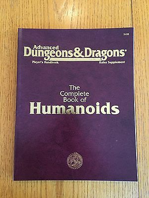 Advanced Dungeons & Dragons - Complete Book Of Humanoids - AD&D TSR