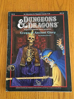 Dungeons & Dragons Module X13 - Crown Of Ancient Glory - D&D TSR