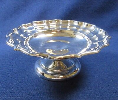 Birks Regency Chippendale Sterling Silver Footed Compote Pedestal Candy Dish