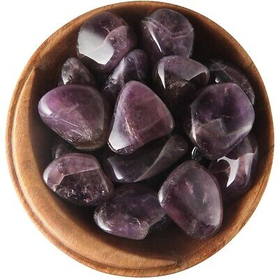 1 AURALITE 23 AMETHYST - Ethically Sourced, 1 Inch Tumbled Stone