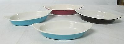Hall China Set Of 4 Augratin Colored Baking Dishes  # 527