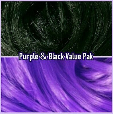 Black & Purple XL 4oz 2 Color Value Pack Doll Rooting Hair Barbie Integrity MLP