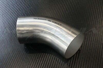 """Stainless Steel 2.5"""" 45 Degree 304 1.6mm Mandrel Bend Exhaust Pipe Elbow inch"""