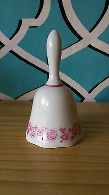 Vintage Avon 1973 Mikasa China Bell With Pink Roses Made In Japan Original Box