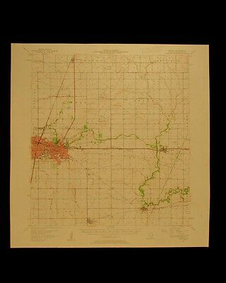 Urbana Illinois vintage 1961 detailed USGS Topographical chart