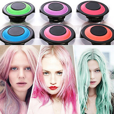6pcs Hair Chalk Powder Soft Pastel Christmas DIY Kit Temporary Wash-Out Colour