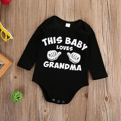 Newborn Kids Baby Boys Girls Long Sleeve Romper Jumpsuit Bodysuit Clothes Outfit