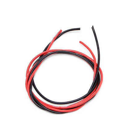 14AWG Gauge Silicone Wire Flexible Stranded Copper Cables 5m for RC black red