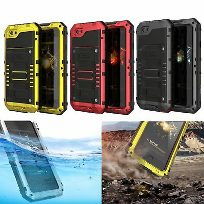Waterproof Shockproof Gorilla Glass Aluminum Case Cover For iPhone X 7 7 Plus