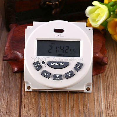 AC 12V 16A LCD Timer Switch Display Digital Power Programmable Time Relay New