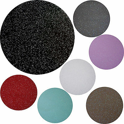 Round Glitter Glittery Vinyl Wipe Clean Pvc Tablecloth Many Colours And Sizes