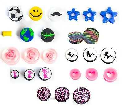 50 mixed ear plugs tunnels tapers bargain body jewellery great profit potential