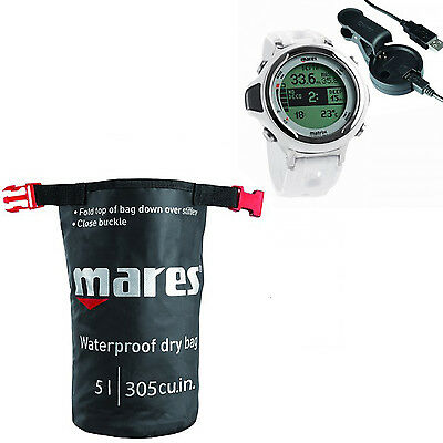 Mares Computer Matrix Bianco + Interfaccia Usb + Mares Dry Sack 01IT