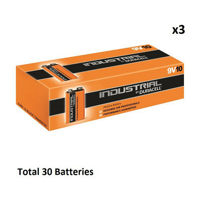 30 x 9V Duracell Industrial MN1604 E-Block Alkaline Batteries for Electronics