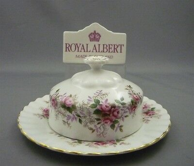 Royal Albert England Lavender Rose Bone China Covered Butterdish Butter Dish