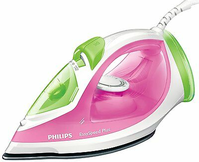 Philips GC2045 Easy Speed Steam Iron Crease Removal 270ml 2300W Pink / Green