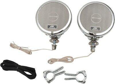 """MH Instruments 218 Rumble Road Limited Non-Amplified Stereo Speakers 1"""" Chrome"""