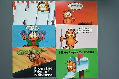 R&L Postcard: Collection of Children's Cards 1980's, Garfield the Cat, Jim Davie