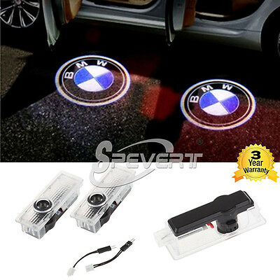 LED Logo Step Door Courtesy Ghost Shadow Laser Projector Light For BMW E60 E65