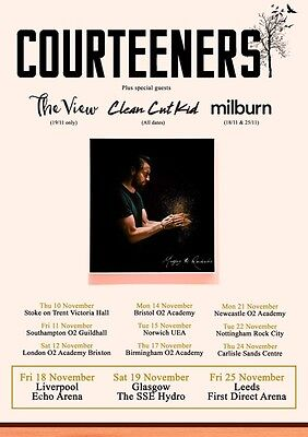 COURTEENERS Mapping the Rendezvous 2016 UK Tour PHOTO Print POSTER Liam Shirt 10