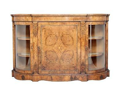 19Th Century High Victorian Inlaid Walnut Credenza