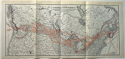 Large Original 1921 Dated Map of the Canadian Pacific Railway