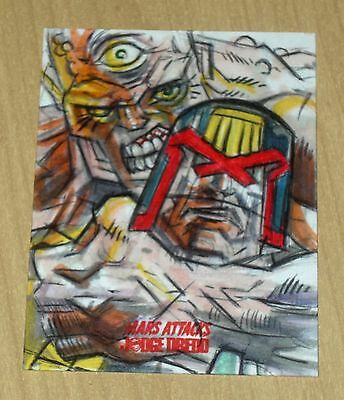 2015 Topps Mars Attacks Occupation Kickstarter Judge Dredd sketch Marck Labas d