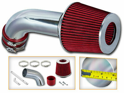 BCP RED 06-08 VW Jetta Passat GTI 2.0L Turbo Short Ram Air Intake Kit +Filter